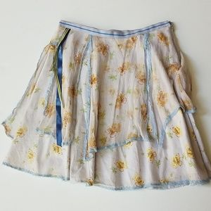 Free people gauze and cotton skirt 6 vintage